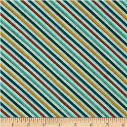 Moda S'More Love Happy Trails Diagonal Stripe Pond Aqua