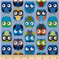 Timeless Treasures Owls Blue