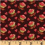 0273332 Bread and Butter Medium Floral Maroon/Pink