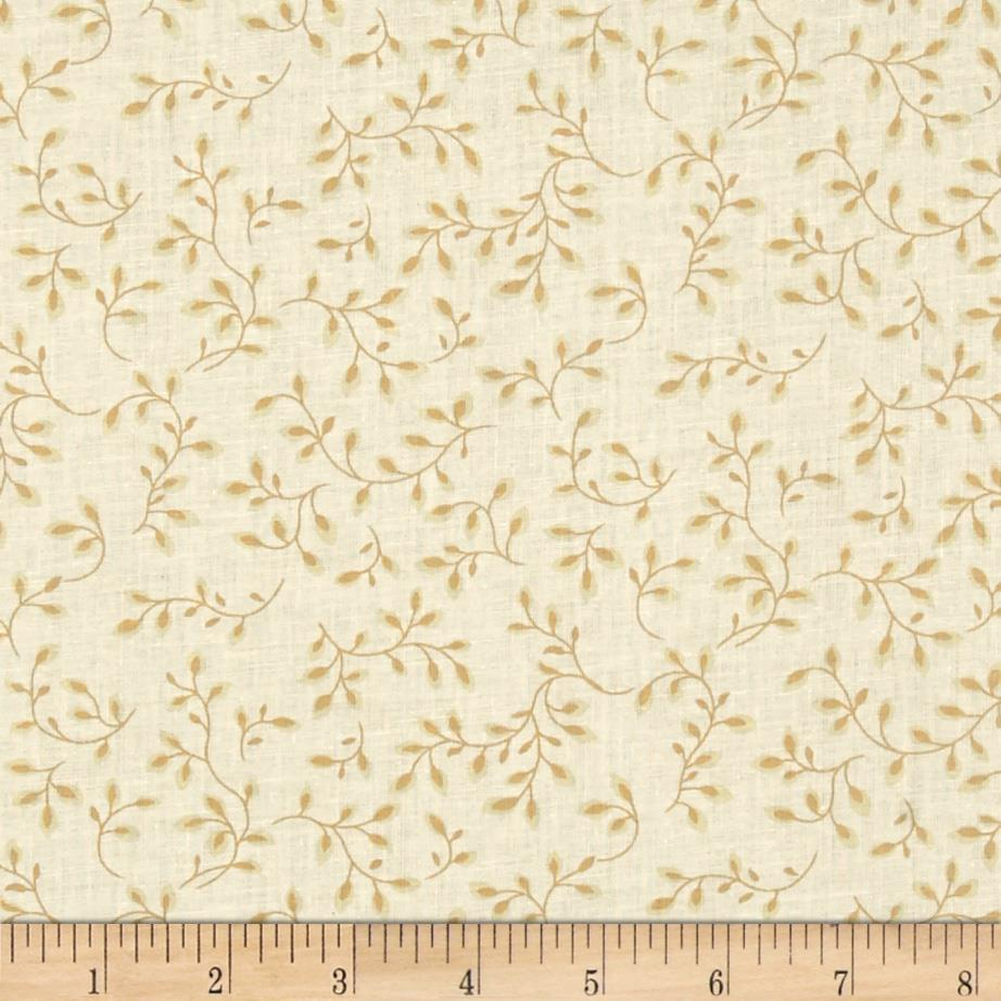 108'' Wide Quilt Backing Folio Vines Cream