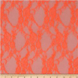 Stretch Neon Lace Orange