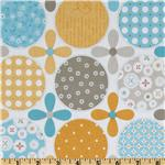 Riley Blake Polka Dot Stitches Designer Blue