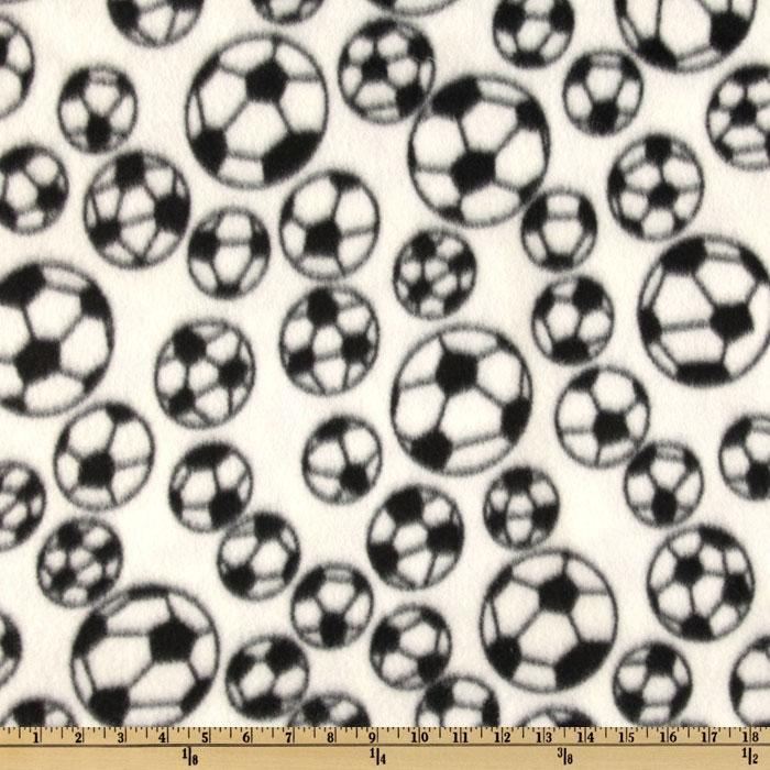 Sports Fleece Soccer Balls White