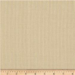 Benartex Home Aegean Stripe Khaki/Natural