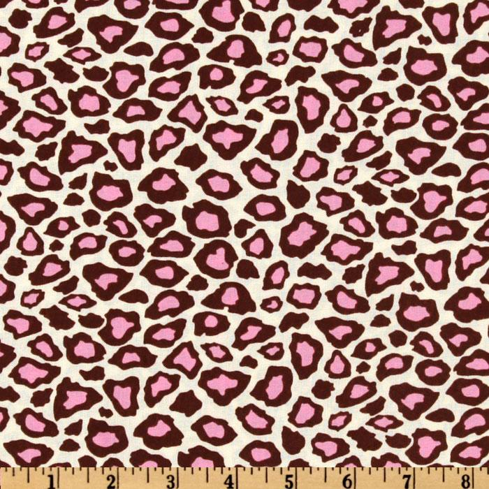 Metro Living Leopard Pink/Chocolate