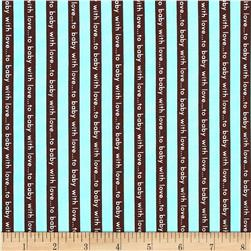 Little One Organic Stripe Aqua