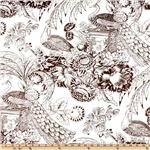 UF-302 Peacock Toile Chocolate