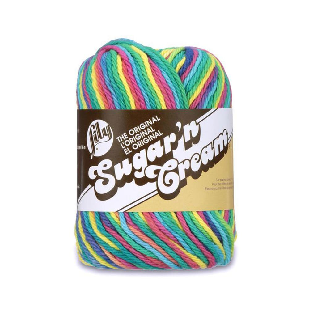 Lily Sugar &#39;n Cream Yarn Ombre (02600) Pyschedelic