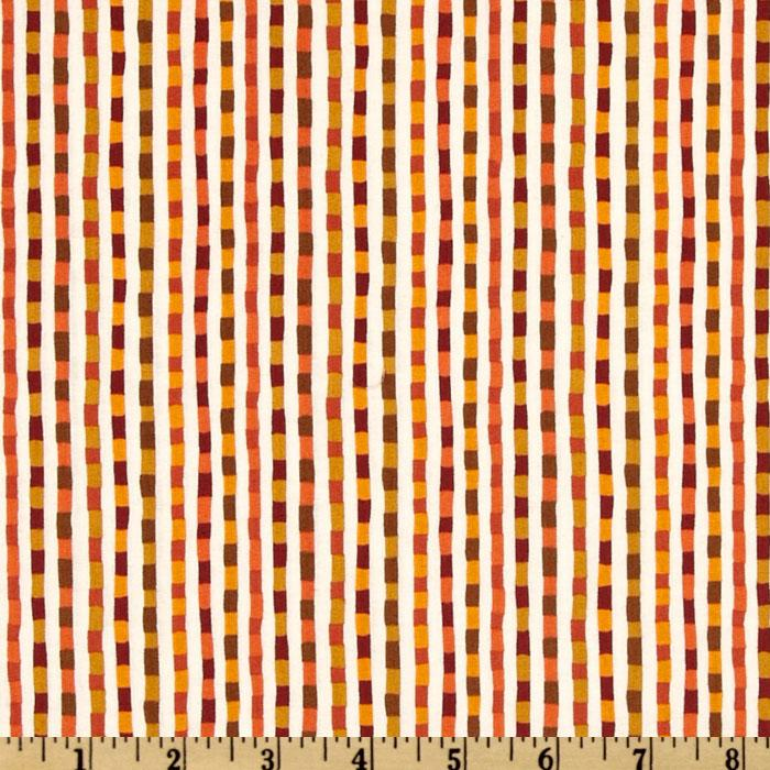 Good Seasons Fall Checkered Stripe Orange