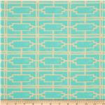 0281837 Tina Givens Havens Edge Cotton Voile Walls Turquoise