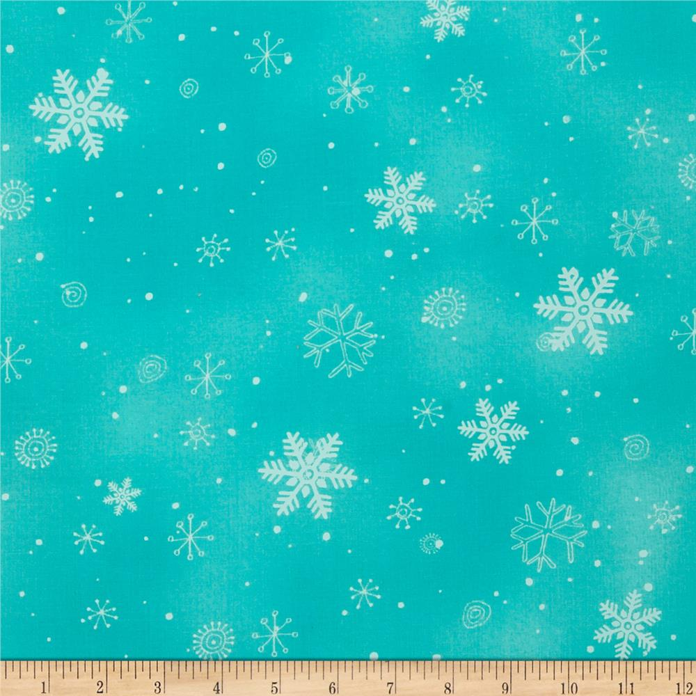 Chilly Silly Snowmates Snowflakes Teal