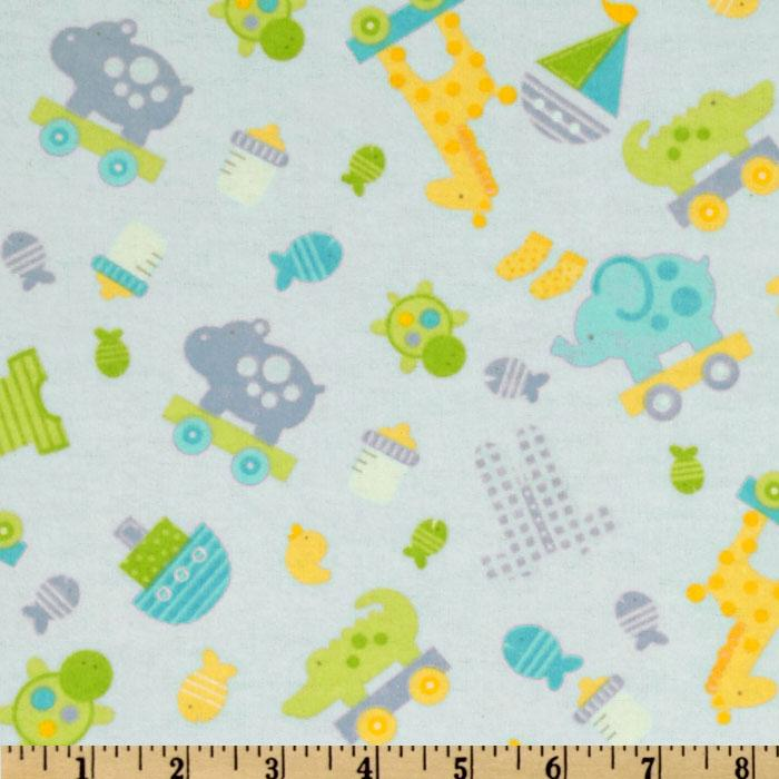 Bitty Baby Flannel Tossed Toys Baby Blue