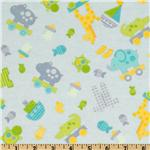 FM-627 Bitty Baby Flannel Tossed Toys Baby Blue
