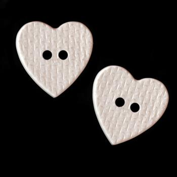 Novelty Buttons 3/4&#39;&#39; Loveland White