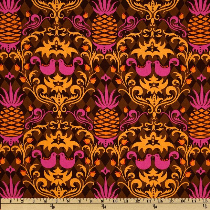 Michael Miller Andalucia Birdie Damask Chocolate