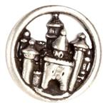 Metal Button 1 3/8'' Carcassone Antique Nickel