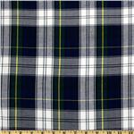 FO-665 Kaufman House of Wales Plaid Shirting Blue