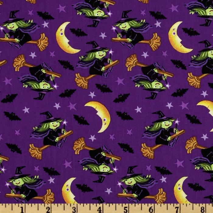 Trick or Treat Tossed Witches Purple