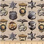 Round'em Up Sheriff Badges Cream
