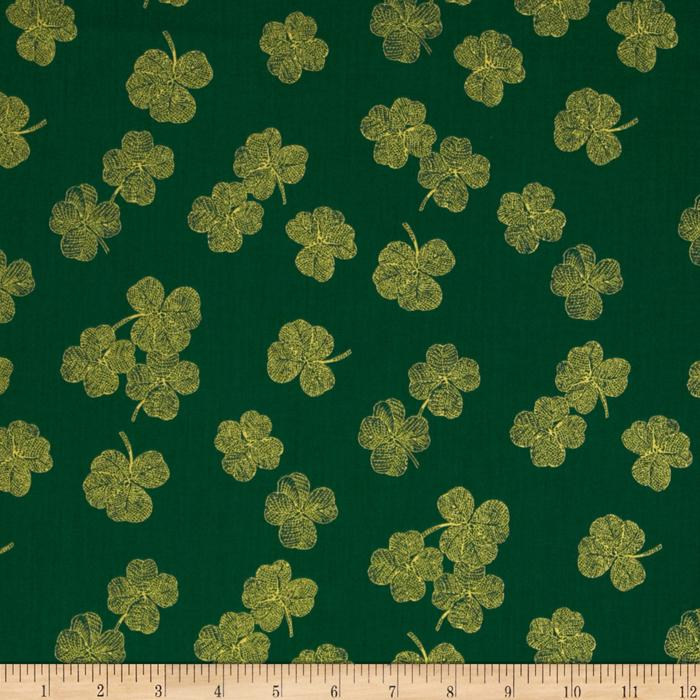 Timeless Treasures Nature Clover Green