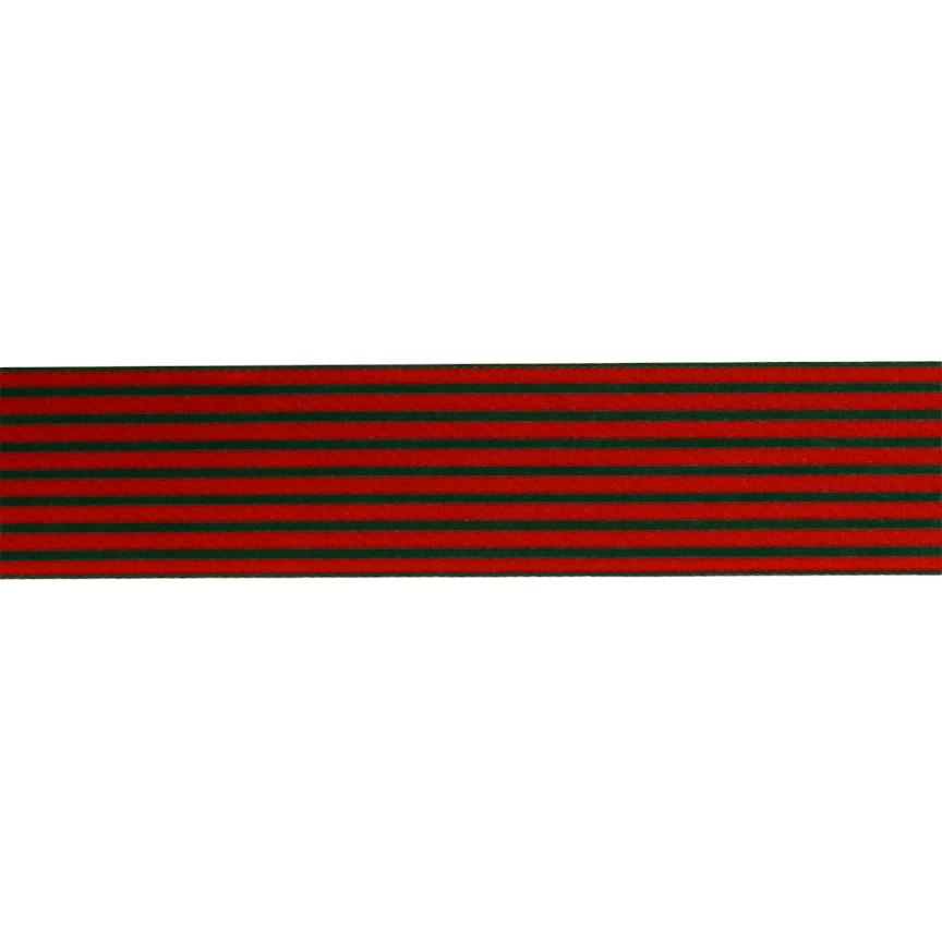 "1.5"" Grosgrain Stripes Red/Green"