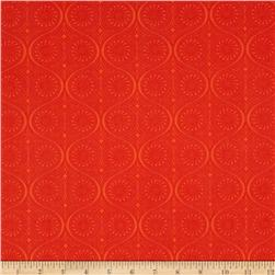 Frippery Swirl Dots Orange Red