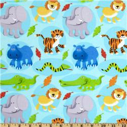 Fabri-Quilt Cuddle Flannel Baby Safari Blue