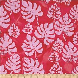 Indian Batik Corfu Leaf Red/Pink