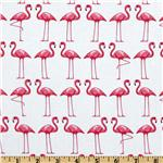 Michael Miller Shore Thing Flamingo Dance White