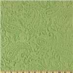 Minky Cuddle Embossed Paisley  Olive