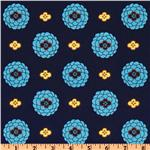 FD-481 Mission View Dahlia Dots Cobalt