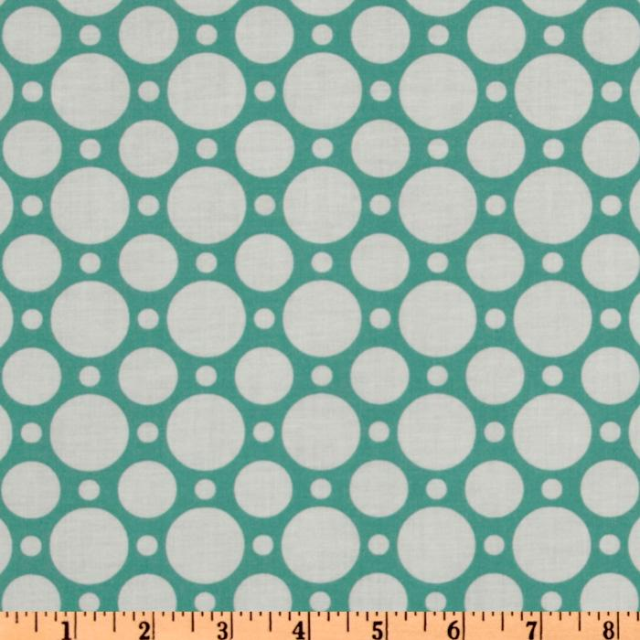 Crazy for Dots &amp; Stripes Large Dot Teal/White