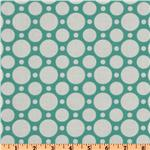 FC-756 Crazy for Dots & Stripes Large Dot Teal/White