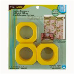 "Curtain Grommets Square 1 9/16"" Yellow"