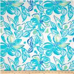 0298419 Cotton Lawn Prints Aqua