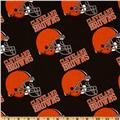 NFL Cotton Broadcloth Cleveland Browns Orange/Brown