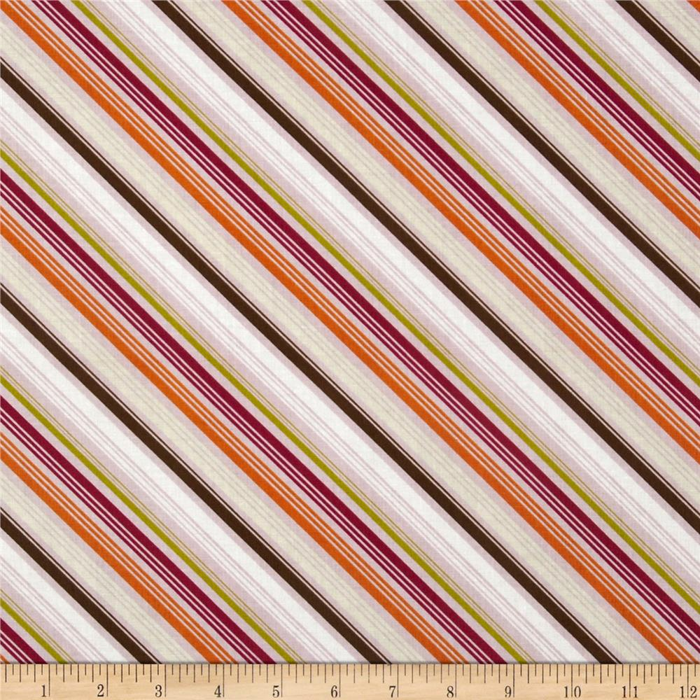 Riley Blake Little Matryoshka Stripes Purple