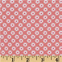 Riley Blake Hello Sunshine Flannel Hello Daisy Pink