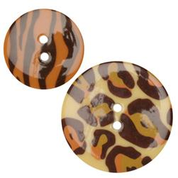 Fashion Buttons 1.00'', 1 3/8'' Coordinates Skin Brown/Orange/Ivory