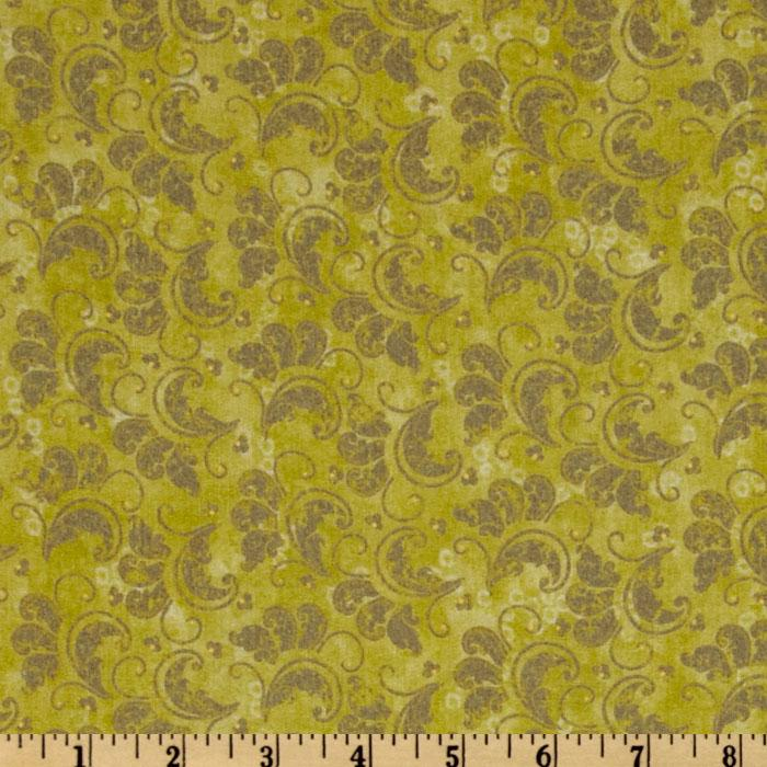 French Twist Scroll Lime Green/Grey