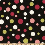 Premier Prints Spirodots Black/Pink