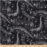 0275784 Swing Cats Music Notes Black