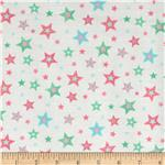 0272717 Bear Hugs Stars White/Pink