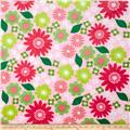 Kaufman Izzy Header Minky Cuddle Flower Melon