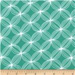 Michael Miller Flannels Star Pods Teal