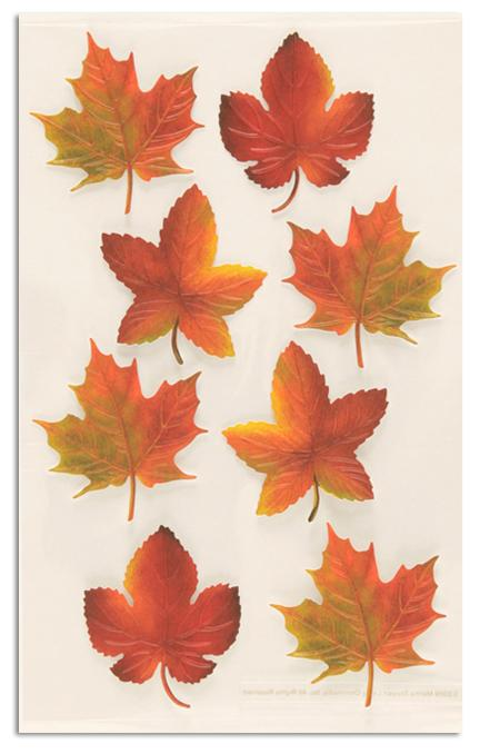 Martha Stewart Crafts Stickers Harvest Leaf Collection