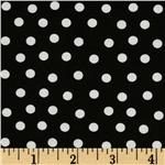 Moda Bear Country School Mama&#39;s Dots Black/White
