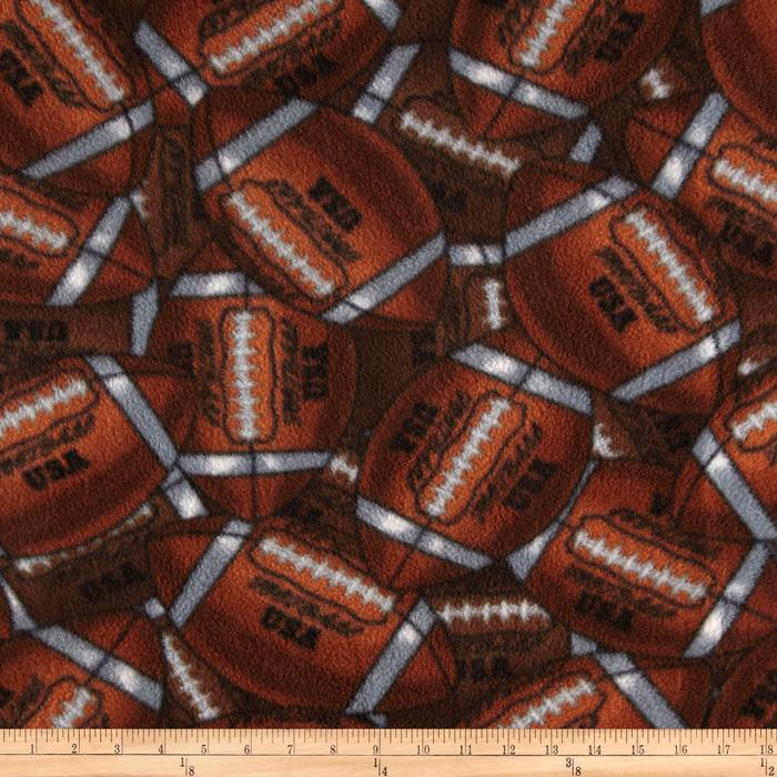 Packed Footballs Fleece Brown