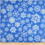 Timeless Treasures Ice Snowflake Periwinkle
