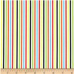Richard Scarry Farmer's Market Stripe White